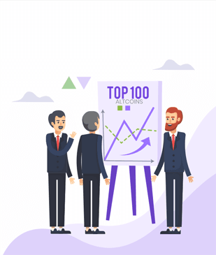 Cryptobulls Top 100 logo Get tailored strategies and expert advice to start risk-free cryptocurrency trading